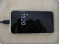 Nokia Lumia 620 su silikoniniu dėkliukų priekis