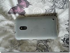 Nokia Lumia 620 su silikoniniu dėkliukų nugara