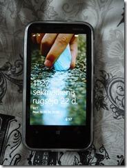Nokia Lumia 620 užrakto ekranas