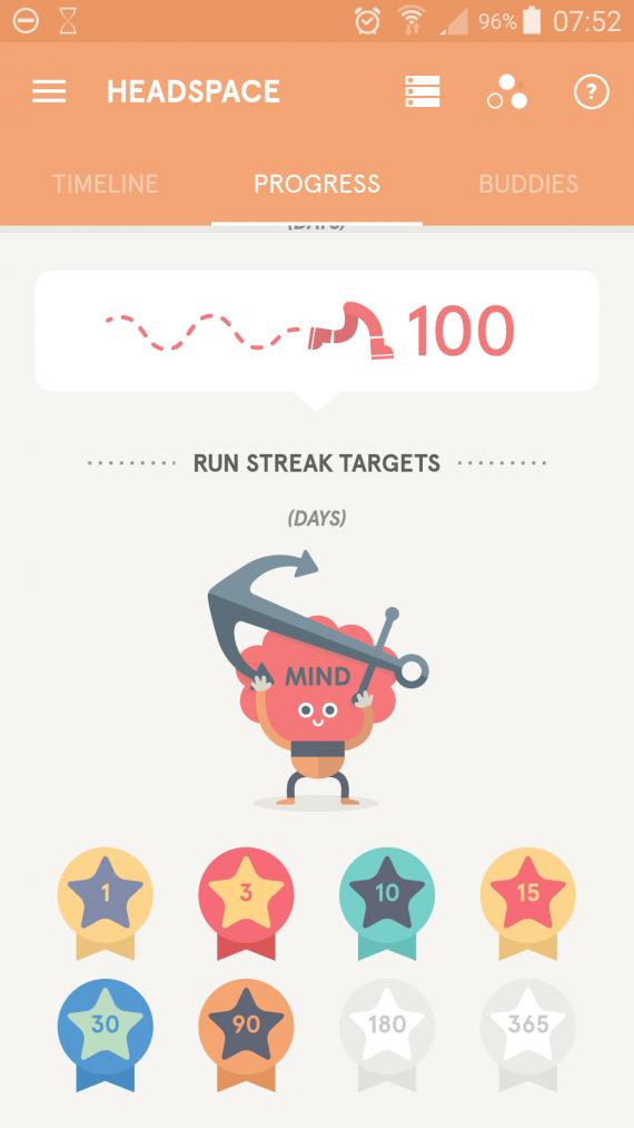 Headspace 100 dienų serija