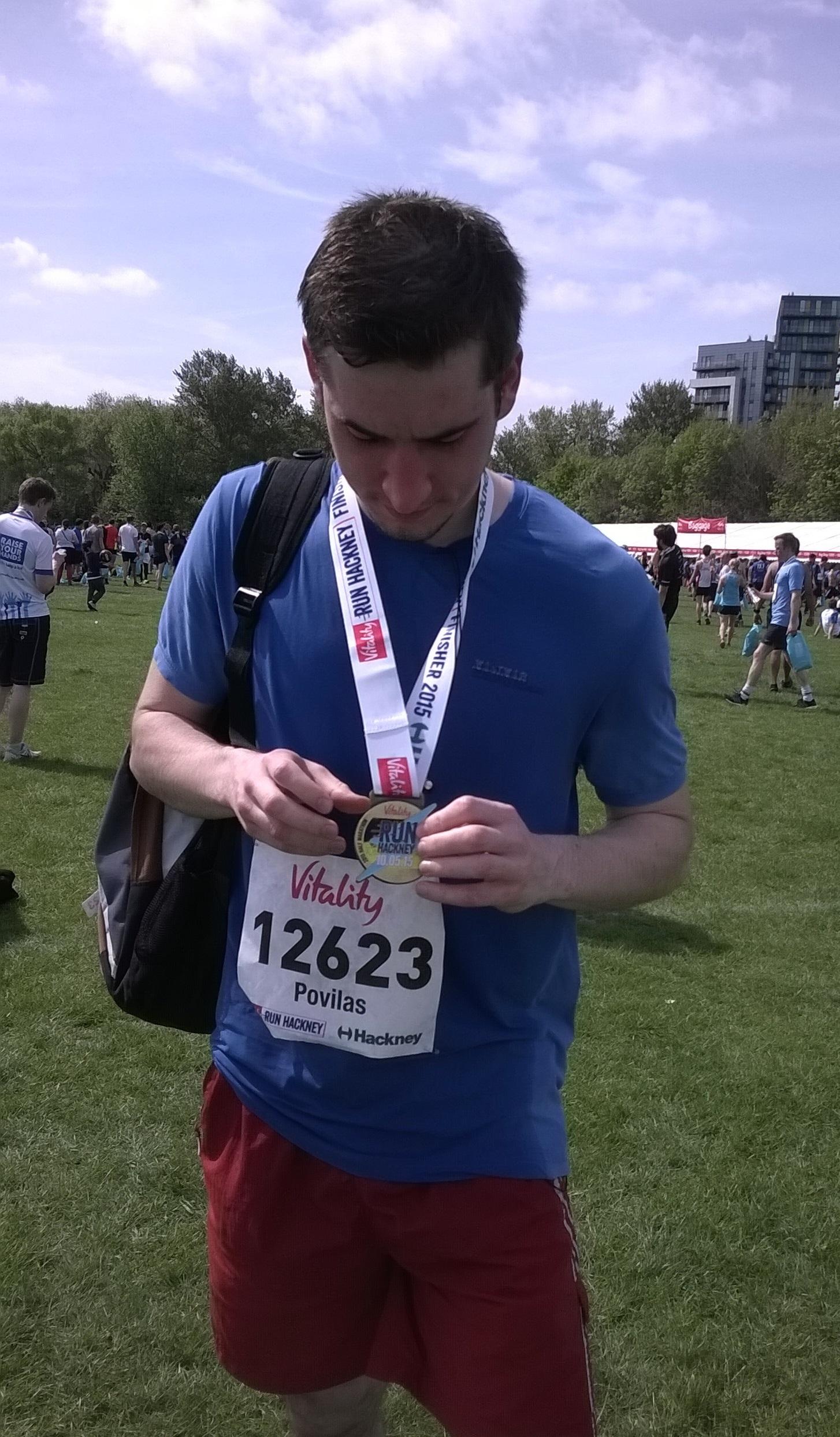 Povilas Panavas Hackney half marathon 2015