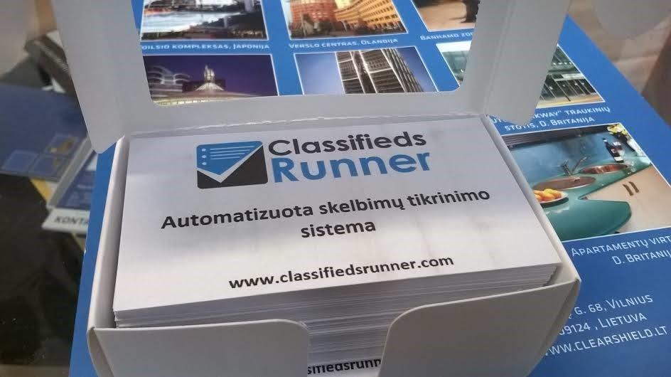 ClassifiedsRunner skrajutės