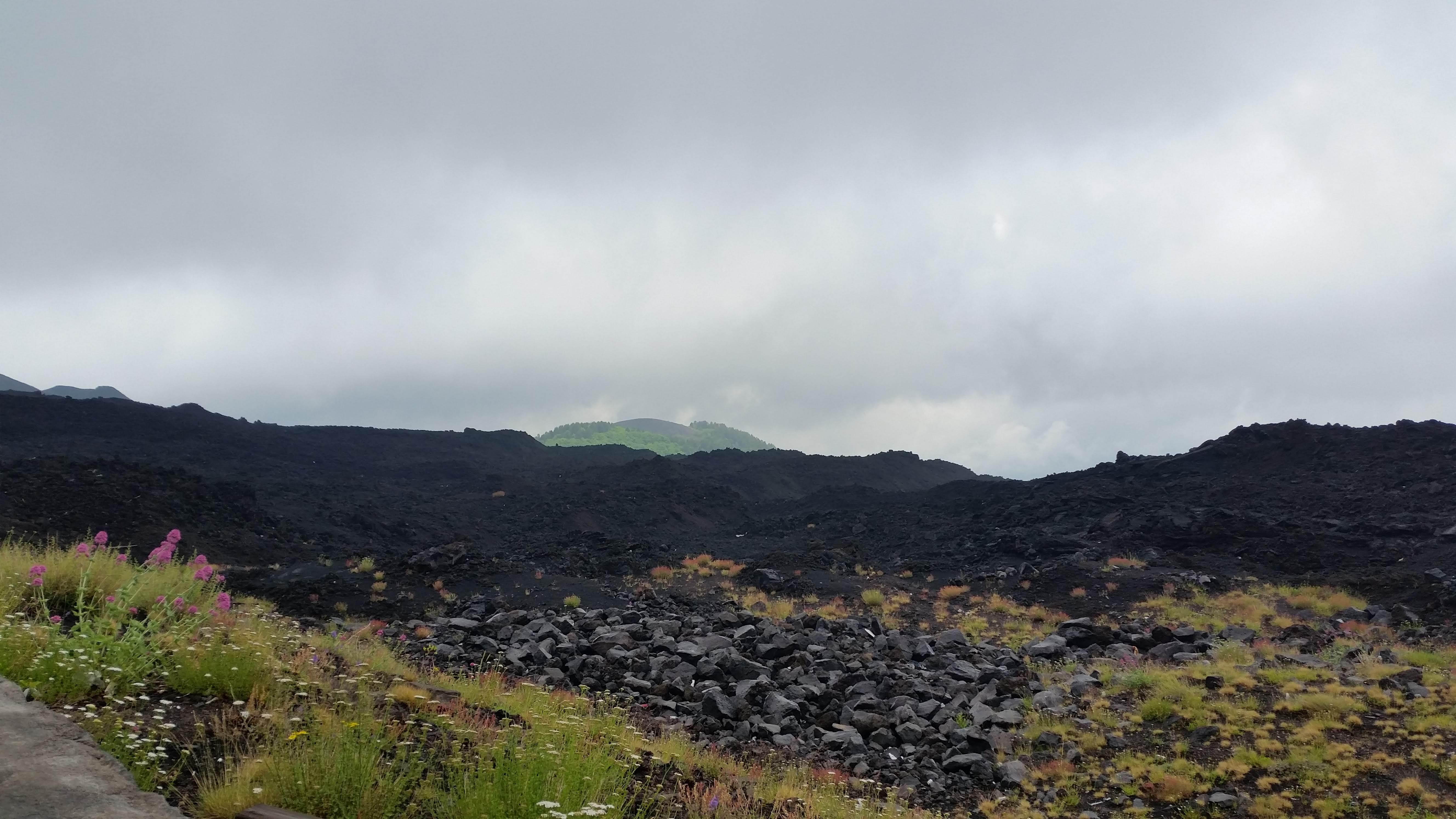 Ant Etna Ugnikalnio